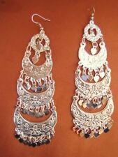 Gorgeous Egyptian Chandelier Sexy Belly Dance Earrings Dangle Jewelry SILVER_NEW