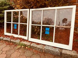 2 - 31 x 25 Vintage Window sash old 6 pane From 1965 Arts & Craft
