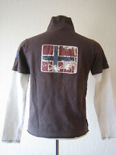 Napapijri Langarm Poloshirt in Gr. 12 Longshirt / Lagenlook