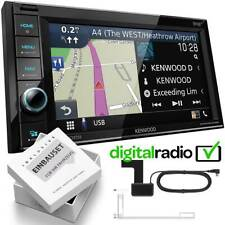 Kenwood DNR4190DABS 2DIN DAB+ Navi inkl Antenne für Opel Corsa D piano black