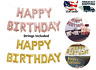 Happy Birthday Letter Foil Balloons Banner Backdrop Party Supply Decorations