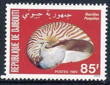 TIMBRE REPUBLIQUE DE DJIBOUTI N° 522 ** FAUNE MARINE COQUILLAGE