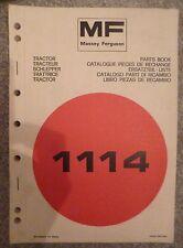 Massey Ferguson Schlepper 1114 Ersatzteilkatalog