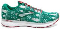 Men's Brooks Revel 3 Run Merry Christmas Holidays Running Shoes US 10 Green