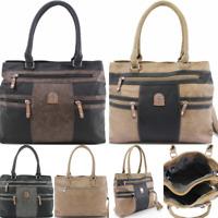 Ladies Fashion Shoulder Bag Women Handbag Cross Body Strap Synthetic UK Seller