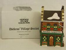 Dept 56 FAVERSHAM LAMPS & OIL Dickens Village Series Lighted Building #58327 NIB