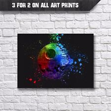 Death Star Abstract Poster - Wall Art Prints - A4 Print - Star Wars Poster