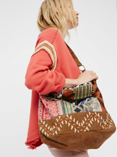New Free People Anthropologie Indian Summer Hobo Cotton Suede Tote Bag $128