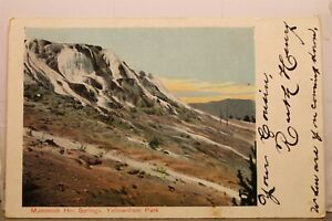 Yellowstone National Park Mammoth Hot Springs Postcard Old Vintage Card View PC