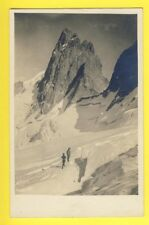 Carte Photo PHOTOGRAPHIE ODDOUX à GRENOBLE Alpinistes HIVER NEIGE Wintersport