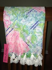 Lilly Pulitzer BOHEMIAN QUEEN RESORT SCARF Soft Wrap Tassel Ends 30x82 - NWT