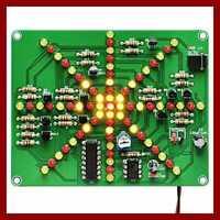 Electronic LED Flashing Lights Soldering Practice Board PCB DIY Kit EK1874