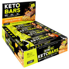 Nature Fuel Keto Bar Meal Replacement Whey Protein Mct Energy 12 Bars 2 Flavors