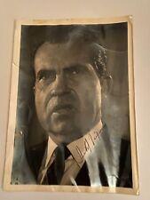 Nixon Autograph on Photo 1968