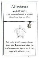 2 x Wish String Bracelet or Anklet - Abundance - Lucky Turtle Bead Handmade W001