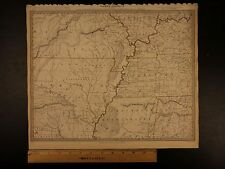 1844 BEAUTIFUL Huge Color MAP of North America Arkansas Tennessee Missouri ATLAS