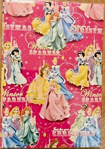 Disney Princess Christmas Wrapping Paper (2 Sheets Only) 50 x 70cm each