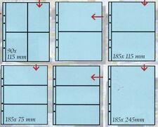 Masterphil Confezione 10 fogli per banconote francobolli cartoline UNI Trasparen