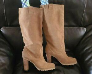 BCBG Women's Suede Beige Boots Size 8.5