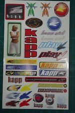 Kapp Sticker Sheet. Nos. Old school! Vintage! Rare!