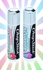 x2 Slurpee 7-11 Chrome ChapStick Watermelon Lime & Cotton Candy LIMITED EDITION
