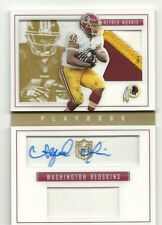 2015 PLAYBOOK BOOKLET GOLD DUAL PATCH AUTO ALFRED MORRIS /15 SKINS COWBOYS