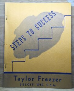 "ANTIQUE ORIGINAL 1941 ""STEPS TO SUCCESS"" FOR ICE CREAM SALES BY TAYLOR FREEZER"
