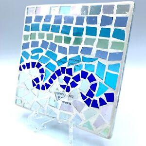 White Barn Juniper Breeze Mosaic Glass Tile Base Beach Sea Glass