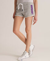 New Womens Superdry Easy Shorts Grey Marl SVD