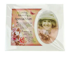 in Loving Memory of a Special Mum Photo Frame Mount Memorial Tribute Gift Plaque