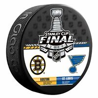 2019 NHL Stanley Cup Final Dueling Puck Boston Bruins Vs. St Louis Blues