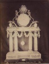 Fontainebleau Pendule Louis XVI France Vintage Albumine ca 1880