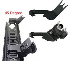 Aluminum Fixed Front and Rear 45 Degree Offset Adjustable Iron Sights Set