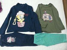 Lotto 617 stock pantaloni maglietta bimba bambina 4/5 anni