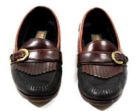 Cole Haan Mens Shoes Country Moc Toe Loafer Leather Black Brazil C03028 Size 9