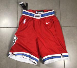 NWT Nike NBA Men's L Basketball City Edition Red Shorts Sacramento Kings Lion
