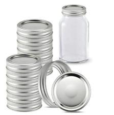 24Pcs Regular Mouth Canning Lids+Bands Mason Jar Canning Lids+Bands/Rings 12 Set