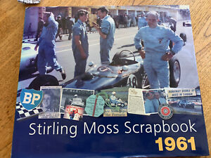 stirling moss scrap book 1961signed by Stirling Moss and Philip Porter.