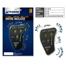 Champro 4 Dial Umpire Indicator - Optic Yellow Dials - Baseball Softball Umpires