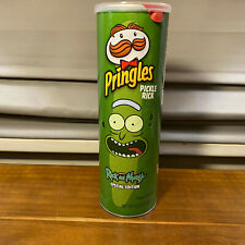 4 Cans PringlesPickle Rick Morty 5.5 oz Each Limited Edition