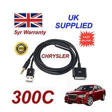 CHRYSLER 300C Adattatore MULTIMEDIALE 71805430 iPhone iPod USB & AUX Cavo in Nero