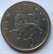 Great Britain 10 New Pence coin 1992 (A)