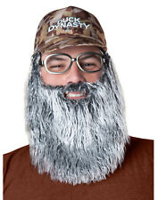 Duck Dynasty Beard Uncle Si Camo Cap with Plush Beard, Glasses Accessory Set