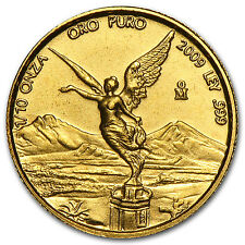 Mexico 1/10 oz Gold Onza &/or Libertad BU (Random Year) - SKU #17014