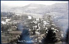WEST TOWNSHEND Vermont ~ 1900's Aerial View of Town ~ River ~ Main Street ~ RPPC