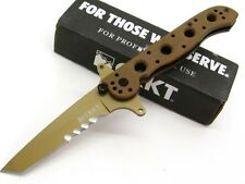 COLUMBIA RIVER CRKT Desert Tan Tactical SPECIAL Forces TANTO M16-13DSFG Knife!