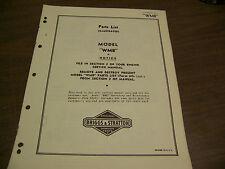 11059 Briggs & Stratton Illustrated parts list WMB