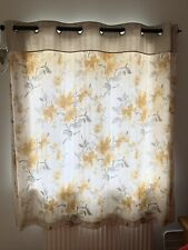 A Pair of Fully Lined Grey Curtains, Ring Top, 167cm X 137cm