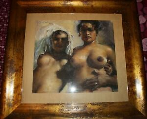 """American and Hungarian painter, Fried Pal`s picture """"Naked  Beauty-III"""", 1940`s"""
