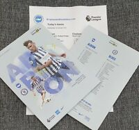 Brighton v Chelsea Matchday Programme with teamsheet 1/1/2020!!!